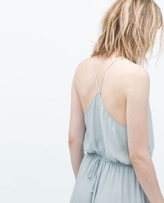ZARA - ITS DRESS UP TIME - LONG DRESS WITH APPLIQUÉ NECKLINE