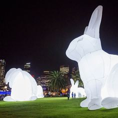 Downtown Sydney Transformed by Light for Vivid Sydney