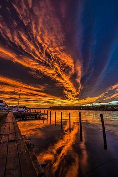 Sky over Fredrikstad, Norway