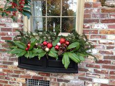 Winter Holiday Planter Xmas Decor