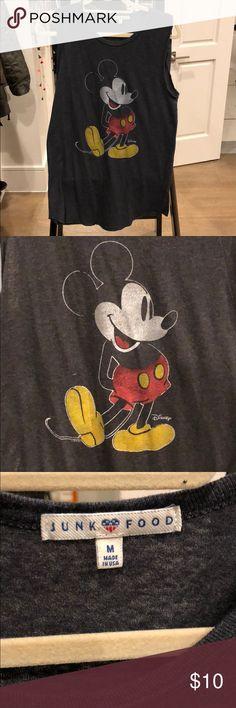 Mickey Mouse long tank Mickey Mouse long tank by Junk Food Junk Food Tops Tank Tops