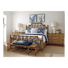 Tommy Bahama Home Twin Palms Panel Customizable Bedroom Set