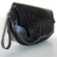 Spiderweb....Handmade Tooled Leather Clutch by ContrivedtoCharm, $248.00