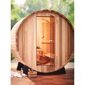 Found it at Wayfair - 4 Person Barrel Sauna Barrel Sauna, Traditional Saunas, Outdoor Sauna, Infrared Sauna, Bench Seat, Jacuzzi, All Modern, Modern Furniture, Home And Garden