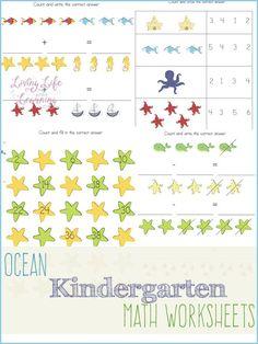 Under the Sea Kindergarten Math Worksheets