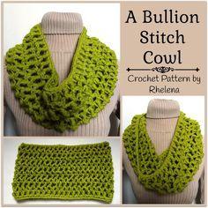 A Bullion Stitch Cowl ~ FREE Crochet Pattern