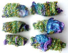 handmade tyvek beads