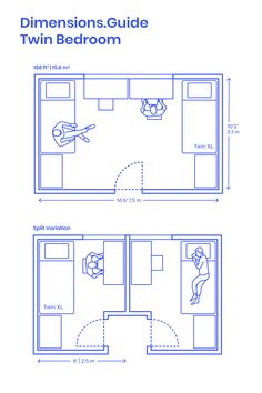 Small bedroom design - Minimum bedroom size for two twin ...