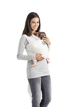 Manduca Sling Écharpe de bébé élastique en jersey souple aspect mélangé  100% coton biologique sans 63636b992a9