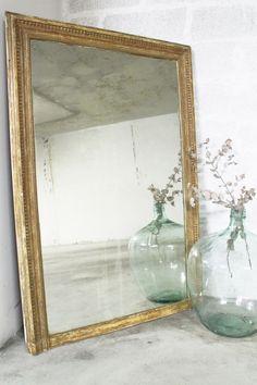 (1) Grand miroir doré vintage doré années 60 – Luckyfind