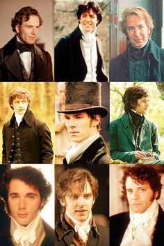Pretty sure that at least two or three of these gorgeous men are not from Austen-adaptations, but what the heck, a cravat is always a cravat... :P