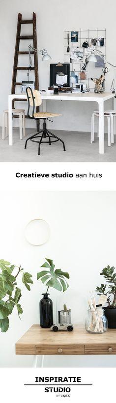 STUDIO by IKEA - Creatieve studio aan huis   #STUDIObyIKEA #inspiratie #wooninspiratie #werkplek #aprilandmay #studeerkamer