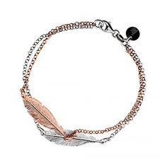 Silver & Rose Double Feather Bracelet #FeatherJewellery
