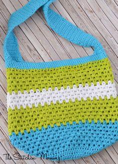 Summer Fun Crochet Tote | AllFreeCrochet.com