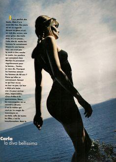 ☆ Carla Bruni | Photography by Dominique Issermann | For Elle Magazine France | July 1994 ☆ #carlabruni #dominiqueissermann #elle #1994