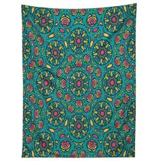 Arcturus Cyan Bubbles Tapestry | DENY Designs Home Accessories