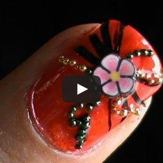 Nail Art Vídeo Tutorial fimo flower