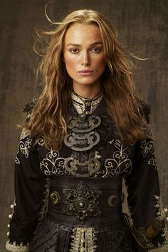 I abosolutely love Elizabeth Swann's pirate outfit!