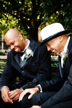 A candid laughing photo. | 42 Impossibly Fun Wedding Photo Ideas You'll Want To Steal