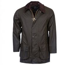 Barbour Mens Classic Beaufort Waxed Jacket Olive