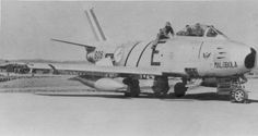 A SAAF F-86F Sabre in Korea.