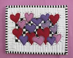 Happy Valentine's mug rug