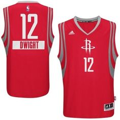 Dwight Howard Authentic In Red Adidas NBA Houston Rockets 2014-15 Christmas  Day  12 777505455