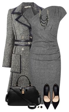 """Gray Dress"" by daiscat ❤ liked on Polyvore featuring Balenciaga, L.K.Bennett, Zara, Tat2 Designs, Principles by Ben de Lisi and STELLA McCARTNEY"