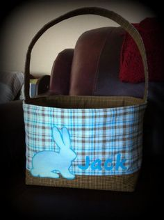 Fabric Easter basket.