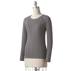 SONOMA life + style Cable-Knit Ribbed Sweater