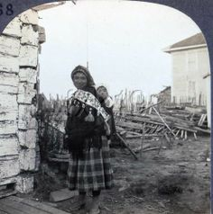 Alaska ft Yukon ATHABASCAN Indian and Papoose Stereoview KSCAM268 | eBay