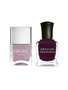 Our Favorite Fall Nail Polish Combinations: Nails Inc. NailKale in Windsor Mews + Deborah Lippmann nail polish in Miss Independent | allure.com