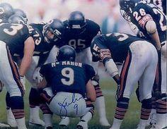 JIM MCMAHON CHICAGO BEARS SIGNED HUDDLE 8X10 PHOTO SUPER BOWL XX #2