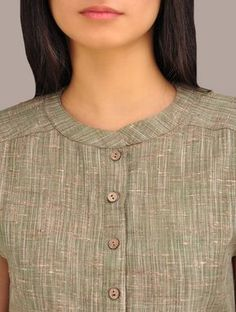 Buy Green Khadi Short Kurta Online at Jaypore.com