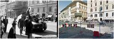 Carro Tedesco in Via  IV Novembre Roma 1943