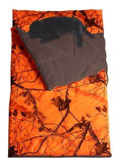 Kids Camo Sleeping Bag - Realtree Orange Camouflage | Bedding > Cribs & Kids