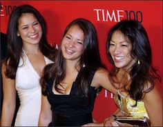 Amy Chua (Tiger Mom) with two daughers 2011