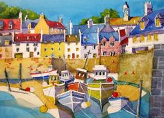 Harbour boats Anstruther, East Neuk Fife by Graham Turpie