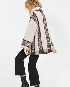 Image 4 of ETHNIC PRINT COAT from Zara