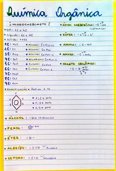Resumo de Química : Química Orgânica
