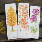 訂製畫-客製植物插畫書籤