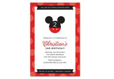 Disney's Minnie Mouse or Mickey Mouse Birthday by PAPERHEARTSbyJ, $14.00