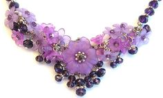 Tutorials | Genevieve Lucite Flower Crystal Necklace | Beading ...