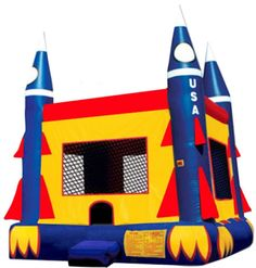 Ideas for children's birthday parties - Outer space theme - Rocket Jumper bounce house with Basketball Hoop - Birthday Party Characters