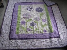 A purple baby quilt