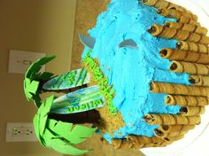 Surf themed birthday cake