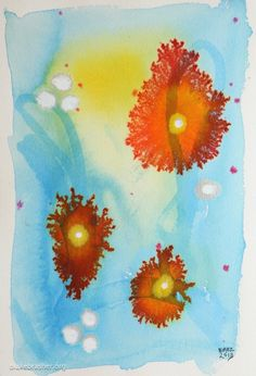 Petri 1 (shallow waters) - 10.25 x 7 inches, watercolor and ink on paper.  2013 Blake Brasher