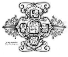 mayan compass tattoo