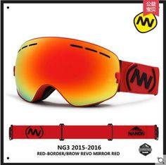 NANDN Men Women Snowboard Sports Ski Goggles Double Lens Anti-fog Professional Ski Glasses NG3 Exchengeable Lens Big Spherical