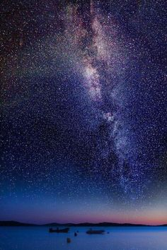 The Milky Way. Alaska.